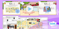 PlanIt - French Year 6 - Let's Visit a French Town Lesson 3: Where Is the Library? Lesson Pack