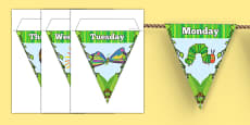 Days of the Week Bunting to Support Teaching on The Very Hungry Caterpillar
