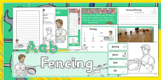 The Olympics Fencing Resource Pack