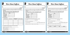 More About Suffixes Differentiated Activity Sheet Pack