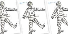 A-Z Alphabet on Mummy (Plain)