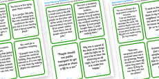 Global Warming Discussion Cards
