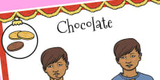 A4 British Sign Language Sign for Chocolate