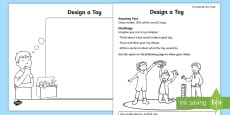 Design a Toy Activity Sheet