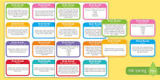 Brain Break Flashcards