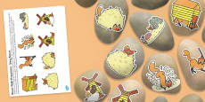 Story Stone Image Cut Outs to Support Teaching on Rosie's Walk