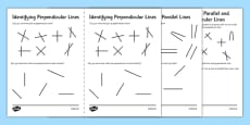 Identifying Parallel and Perpendicular Lines Activity Sheet Pack