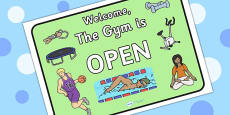 Gym Role Play Open Sign