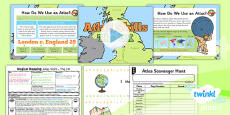 PlanIt - Geography Year 2 - Magical Mapping Lesson 3: Atlas Skills The UK Lesson Pack