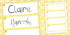 Buttercup Themed Editable Drawer-Peg-Name Labels (Blank)
