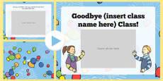 Goodbye Class Editable PowerPoint