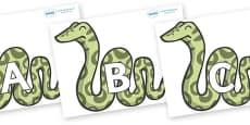 A-Z Alphabet on Snakes