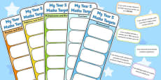 Year 5 Maths Assessment Bookmarks and Cut Outs