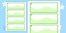 Beech Themed Editable Drawer-Peg-Name Labels