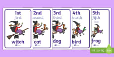 Ordinal Number Display Posters to Support Teaching on Room on the Broom
