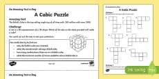 A Cubic Puzzle Activity Sheet