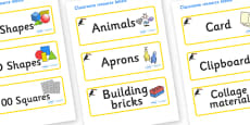 Toucan Themed Editable Classroom Resource Labels
