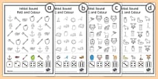 Roll and Colour Initial Sounds Activity Sheet Pack