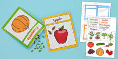 Design Your Own Fruit and Vegetable Seed Packet