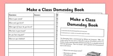 Make a Class Domesday Book