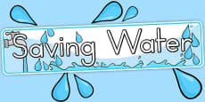 Saving Water Display Banner (Australia)