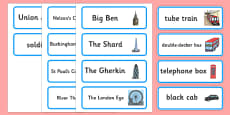 London Hunt Word Cards