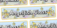 Angel Fish Themed Classroom Display Banner