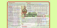 Little Red Riding Hood Lesson Plan Ideas KS1