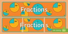 Fractions Display Banner