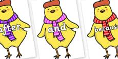 Connectives on Chicken Licken