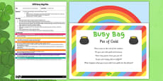 St Patrick's Day Pot of Gold EYFS Busy Bag Plan and Resource