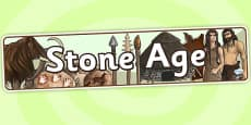 The Stone Age Display Banner