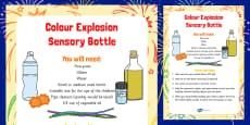 Colour Explosion Sensory Bottle