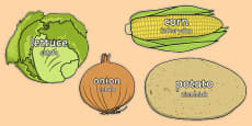 Vegetable Words on Vegetables Polish Translation