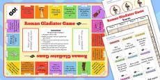 Roman Gladiator Board Game
