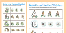 Beatrix Potter - The Story of a Fierce Bad Rabbit Themed Capital Letter Matching Activity Sheet
