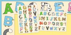 Animal Alphabet Display Borders