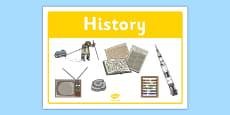 History Classroom Area Sign