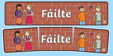 Fáilte Display Banner Gaeilge
