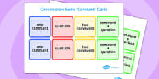 Conversation Game: Comment Cards