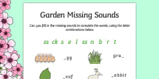 Spring Missing Sounds Activity Sheet