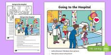 The Hospital Oral Language Activity Sheet