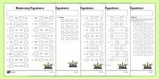 Balancing Equations Activity Sheet Pack