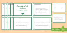 * NEW * Perimeter Word Problems Challenge Cards