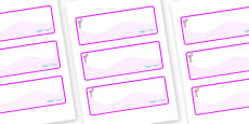 Flamingo Themed Editable Drawer-Peg-Name Labels (Colourful)