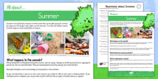 Summer Comprehension Differentiated Activity Sheet Pack