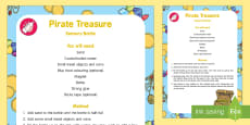 * NEW * Pirate Treasure Sensory Bottle