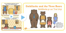 Goldilocks and the Three Bears Story PowerPoint EAL Romanian Translation