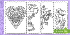Mother's Day Mindfulness Colouring Pages English/Italian