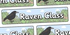 Raven Themed Classroom Display Banner